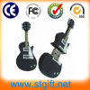 Il bastone del USB del PVC di figura della chitarra è migliore regalo dei manti della musica