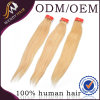 5A Grade Blonde Color Peruvan Straight Human Hair Weaving