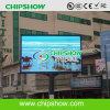Via P10 LED esterno di Chipshow che fa pubblicità allo schermo