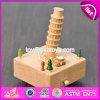 DIY hecho a mano hace el rectángulo de música a mano natural de los cabritos de madera de haya W07b040