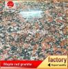 Granito rosso dell'acero cinese G562, granito di colore rosso dell'acero