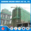 Голубая работа сети безопасности конструкции для строительной площадки