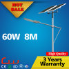 8 mètres de 60W 80W 100W de la vente DEL de réverbère solaire