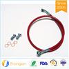 Mangueira do freio do fio PTFE do aço inoxidável 304 de tampa de PVC