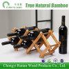 Cremagliera pieghevole materiale di bambù pura del vino per il ristorante dell'hotel della barra