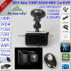 Novo 2.7 Ambarella A7la50 4.0mega Hdr / WDR 1296p WiFi Car Black Box Gravador de Vídeo Digital DVR com GPS Tracking Route, Google Map Playback GPS Log DVR-2718