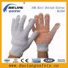 PVC перчаток Knit шнура хлопка отбеливателя ставит точки перчатки одной безопасности стороны работая