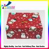 Rectángulo de empaquetado del regalo rojo de la cartulina del tótem del muñeco de nieve