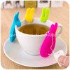 Supporto bello della bustina di tè di figura del coniglio della gomma di silicone