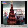 Luz ao ar livre da árvore de Natal do diodo emissor de luz da estrela 5m do ornamento do feriado