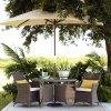 Cadeira de vime do pátio do jardim ao ar livre da mobília do Rattan que janta o jogo