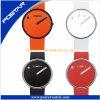 Nieuwe fabriek Ontworpen om Wijzerplaat het Echte Horloge van het Kwarts van het Leer