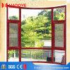 Finestra di vetro di alluminio della stoffa per tendine del rivestimento della polvere di economia con la rete di zanzara