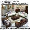 Mobilia americana as-845 del sofà del cuoio della pagina di legno solido