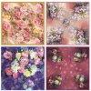 女性(F-001)のための最上質の印刷された絹のあや織りのスカーフ