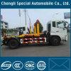 Tianjin Rhd 4X2 exportado cae el carro de basura de la elevación del gancho de leva