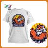 Camiseta llena del algodón de la alta calidad de la elección de la impresión con aduana