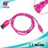 Trenzado de nylon para el cable de datos trenzado del USB del iPhone