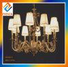 Lámpara colgante del sostenedor de vela de Europa con la cortina de la tela