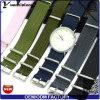 Venda de encargo vendedora caliente de Perlon del reloj del Wristband del reloj del OEM de la insignia de la correa de reloj de la correa de Perlon del estilo de la manera Yxl-033 nueva