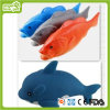 Produtos do animal de estimação do brinquedo dos peixes do vinil do cão