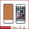 Couverture en cuir de caisse de téléphone de ralentissement d'unité centrale des graines en bois d'Anti-Empreinte digitale