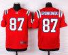 Elite vermelha Jersey do futebol dos patriotas #87 Gronkowski