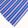 Ligne 100% de bande de coton de bleu royal tissu de rideau pour l'hôtel