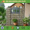 Сад окаймляя декоративную сваренную стену Gabion
