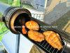 Concentration du cuiseur d'énergie solaire campant faisant cuire le barbecue