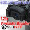 Ggs 사진기 전망 측정기 LED 수준기 1.25x 돋보기