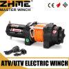 torno eléctrico de 12V 3000lbs UTV con la cuerda sintetizada