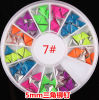 최신 Nail Art Decoration Stickers Metallic Stud Candy Colour Rivet Triangle Design 4mm