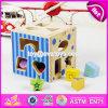 Beste Kinderen die Speelgoed W12D067 coördineren van de Jonge geitjes van de Blokken van de Vorm van het Speelgoed van het Oog en van de Hand het Houten Onderwijs Grappige Houten Onderwijs