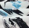 Tessuto della saia stampato poliestere di alta qualità per l'ammortizzatore/cuscino del sofà dell'indumento