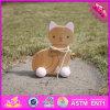 2016 Atacado Kids Wooden Cat Toy Car, Funny Baby Wooden Cat Toy Car, alta qualidade crianças madeira gato brinquedo carro W05b140