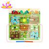 Mini jeu en bois de labyrinthe de bille de jouets intelligents pour les enfants W11h025
