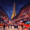 Peinture à l'huile d'Eiffel