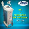 Máquina Multifunctional da remoção do tatuagem do laser da remoção do cabelo do IPL de 2 punhos