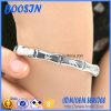 Braccialetto di bambù d'argento del foglio di Ajustable 925 su ordinazione della fabbrica