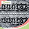 Ткань шнурка хлопка сетки подгонянная оптовой продажей химически 120cm
