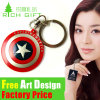 OEM 미국 Iron Man 3D/2D Custom Metal Keyring