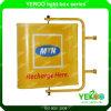 Напольной Signage Windvane продуктов патента установленный стеной вращая для рекламировать