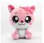 Los juguetes rosados o amarillos del gato para la felpa creativa de encargo juegan la muñeca rosada del gato de la historieta