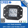 20W CREE LED Work Light mit Flush Mounting