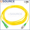 Cavalier optique de Sc/APC-FC/APC, câble de la fibre FTTH
