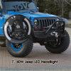 7 het LEIDENE van Cre van de duim DrijfLicht van de Jeep met de Ogen van DRL & van de Engel, IP 67 het Waterdichte Nieuwe LEIDENE van de Jeep van het Ontwerp Lichte Model van het Werk: SR-Ldw