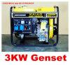 De hete Gekoelde Diesel Genset van de Generator van de Verkoop 3kw Lucht