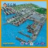 산업 모형 또는 산업 및 작업장 모형 또는 전람 모형 또는 Mianzhou 포트 상태 및 장기 발달 계획 모형
