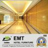 Painel de parede de madeira da área pública agradável de serviço público do hotel (EMT-F2015)